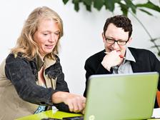 UCK-Expertin Hilia Marija Höpker in der Beratung zur Gründung