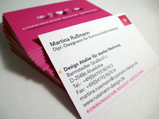 Visitenkarten-Gestaltung Martina Rußmann