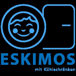 Logo ESKIMOS mit Kühlschrännken Simone Brett-Murati