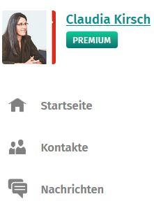Screenshop XING-Profil Claudia Kirsch