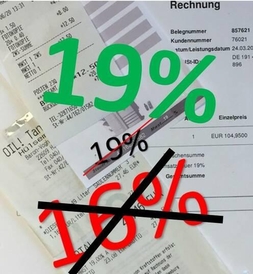 Umsatzsteuersenkung endet am 31.12.2021